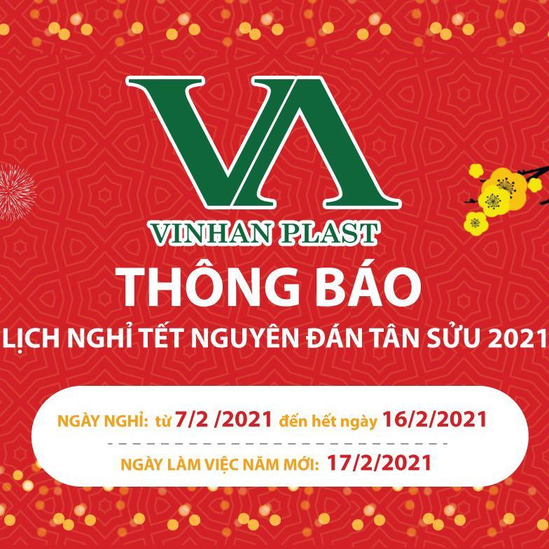Vinh An Plast - Coong ty TNHH Nhựa Vinh An thông báo nghỉ tết Tân Sửu 2021